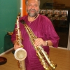 Joe Lovano with his favorite tools, including the